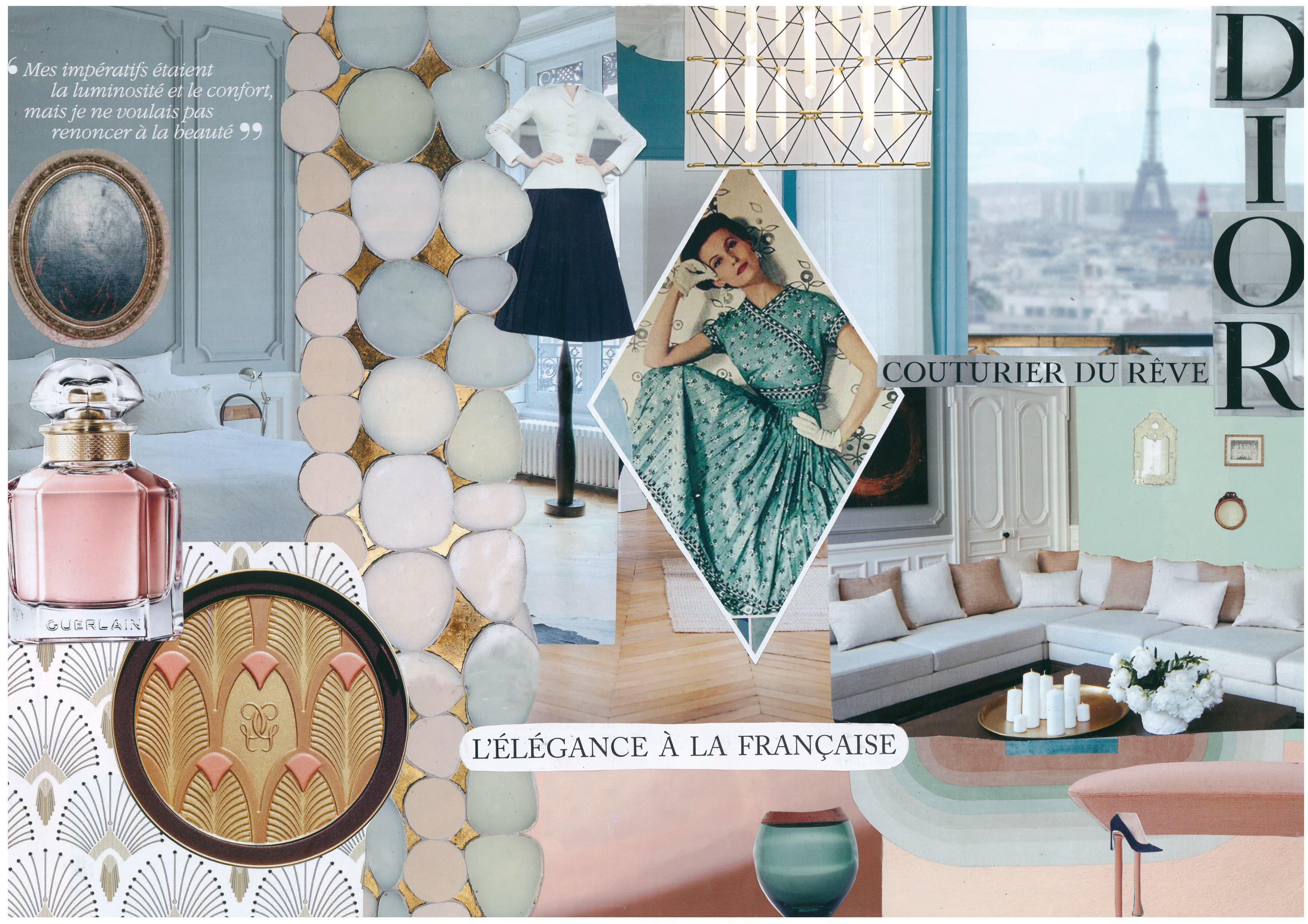 Planche inspiration élégance parisienne